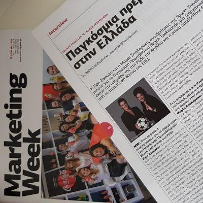 """ST76 was interviewed by """"Marketing Week"""" in Greece"""